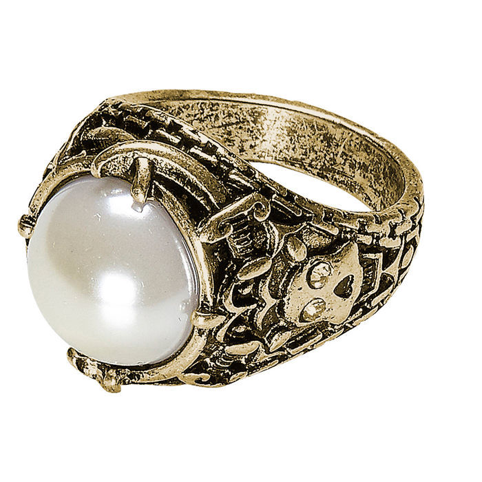Ring mit Perle, gold