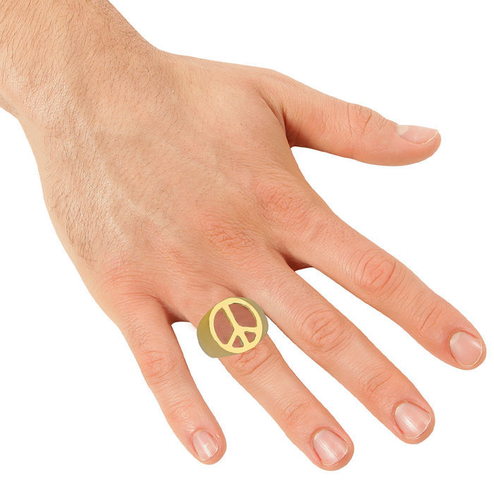 Ring Peace-Symbol, gold Bild 2