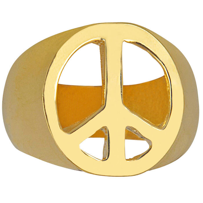 Ring Peace-Symbol, gold