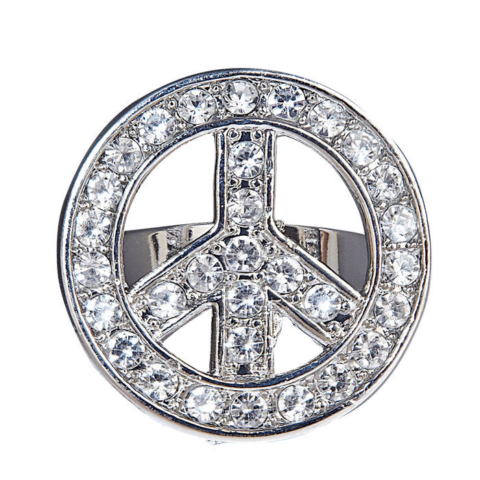 Ring, Strass, Peace & Love