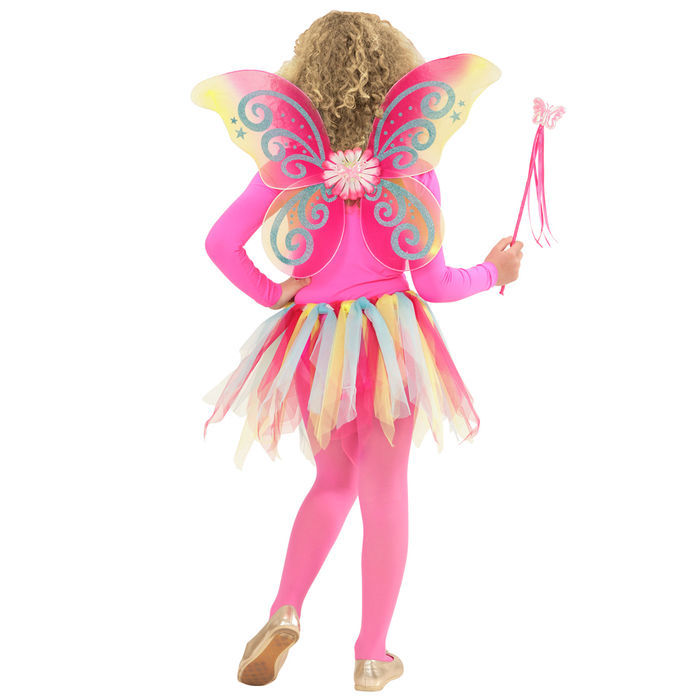3-tlg. NEU Kostüm-Set magische Fee rosa