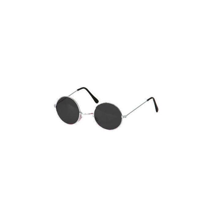 brille hippie runde schwarze gl ser aus metall brillen. Black Bedroom Furniture Sets. Home Design Ideas