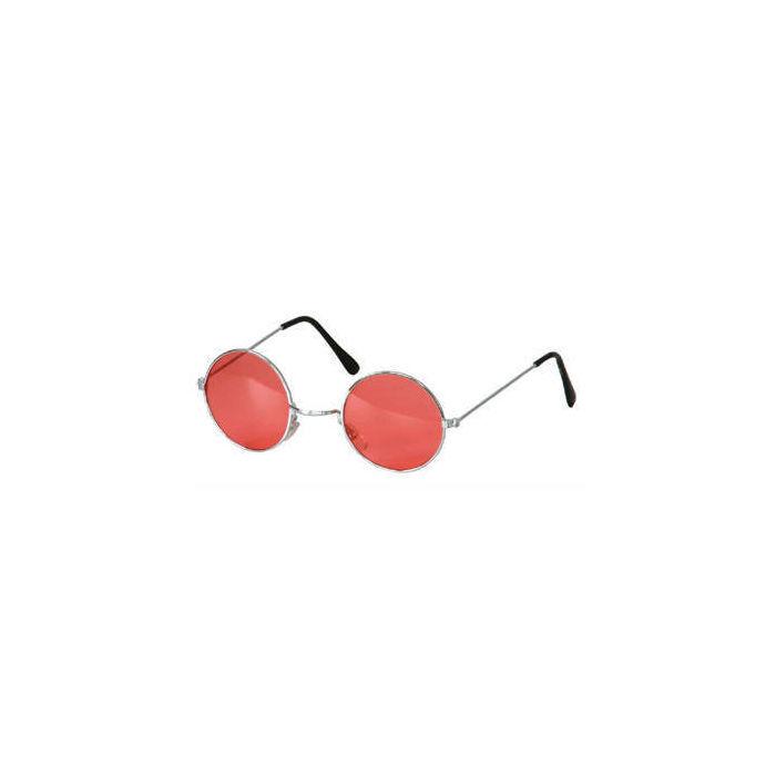 brille hippie runde rote gl ser aus metall. Black Bedroom Furniture Sets. Home Design Ideas