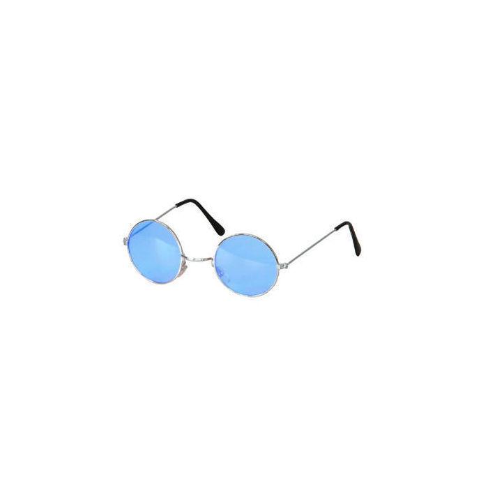 brille hippie runde blaue gl ser aus metall hippie. Black Bedroom Furniture Sets. Home Design Ideas