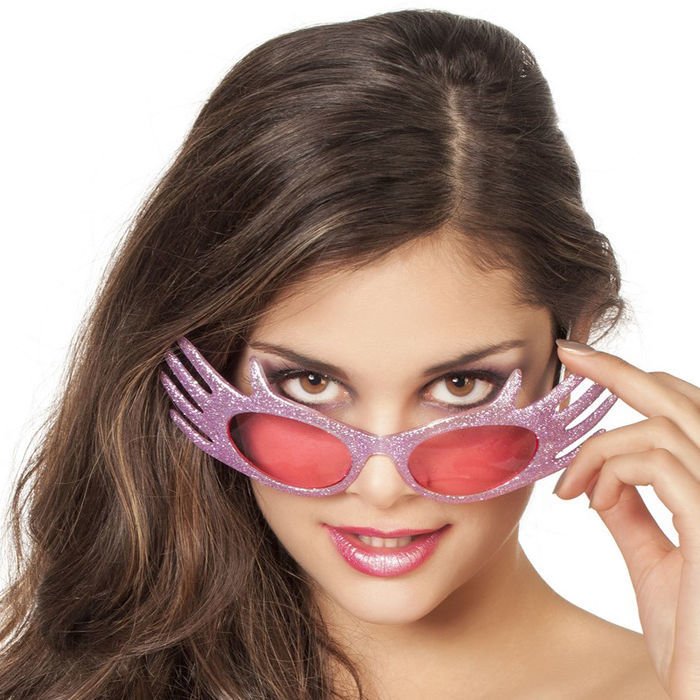 Brille Miss Extravaganz, hot pink