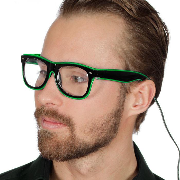 SALE Brille LED Rahmen, grün - Brillen - Crazy & Classic Kostüm ...