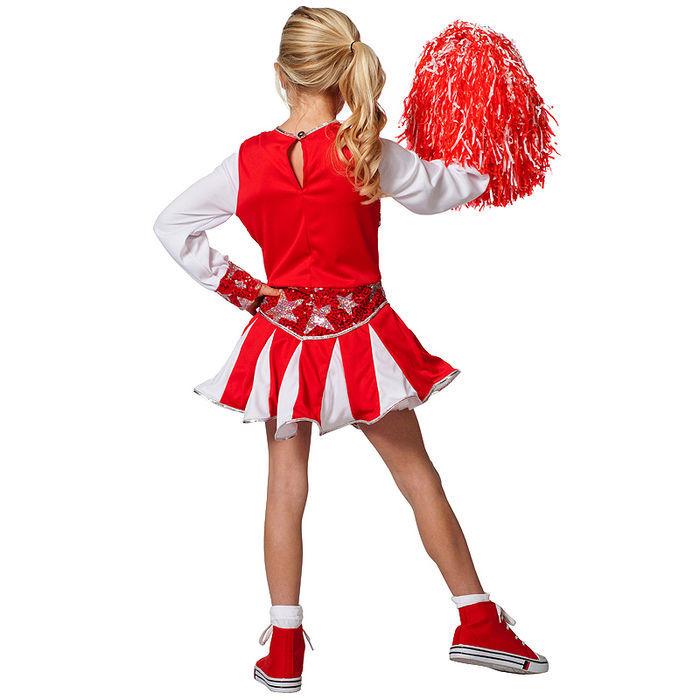 kinder kost m cheerleader rot wei gr 152 tanzmariechen cheerleader kinderkost me m dchen. Black Bedroom Furniture Sets. Home Design Ideas