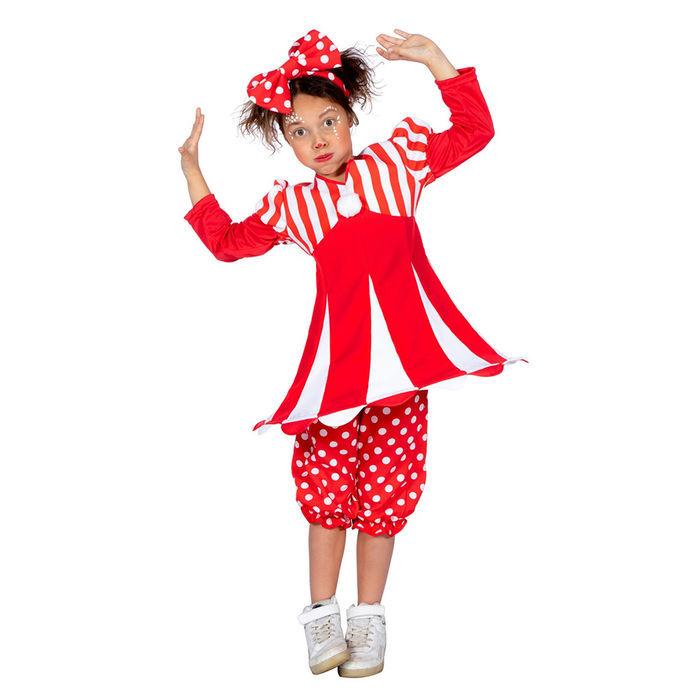 Kinder Kostum Clown Reifrock Rot Weiss Gr 140 Tanzmariechen