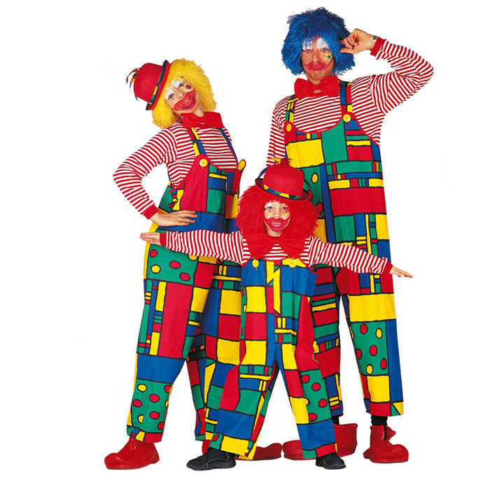Damen-Kostüm Latzhose Clown, Gr. 42