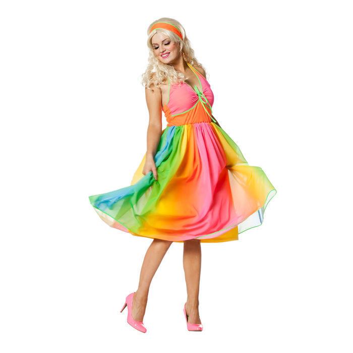 SALE Damen-Kostüm Hippie 70er Kleid, Gr. 36 - 70er-Jahre-Kostüme ...