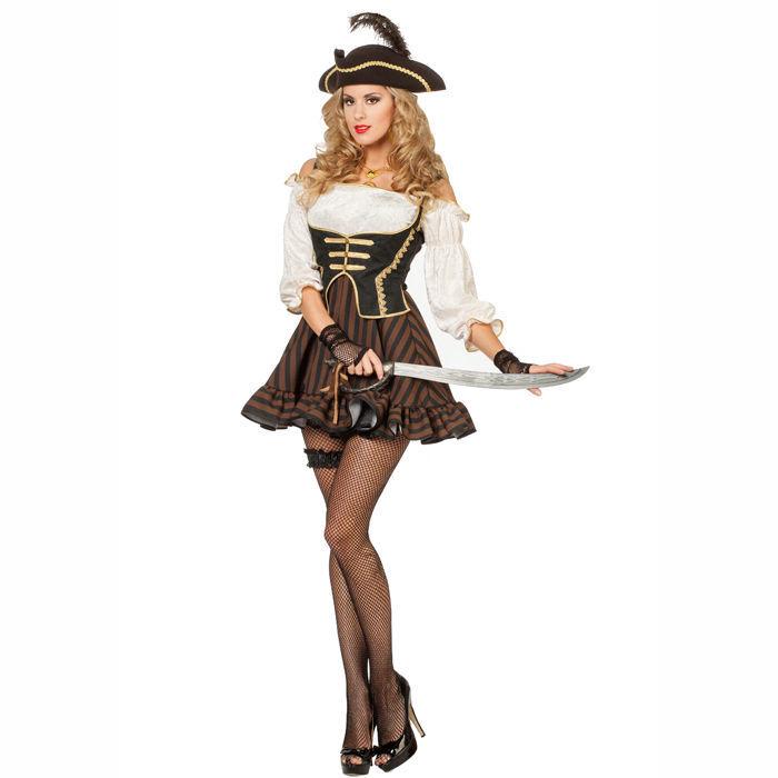 b80cd84937b4e Damen-Kostüm Piratin Mary R. Gr. 46 - Piratin Kostüme & Blusen ...