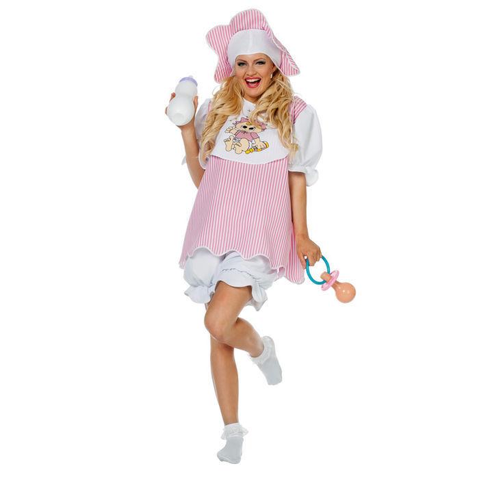 damen kost m baby girl mit m tze gr 44 46 clown baby co kost me nach themen kost me. Black Bedroom Furniture Sets. Home Design Ideas