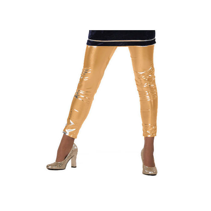 SALE Leggings Folie, gold,  Gr. 38