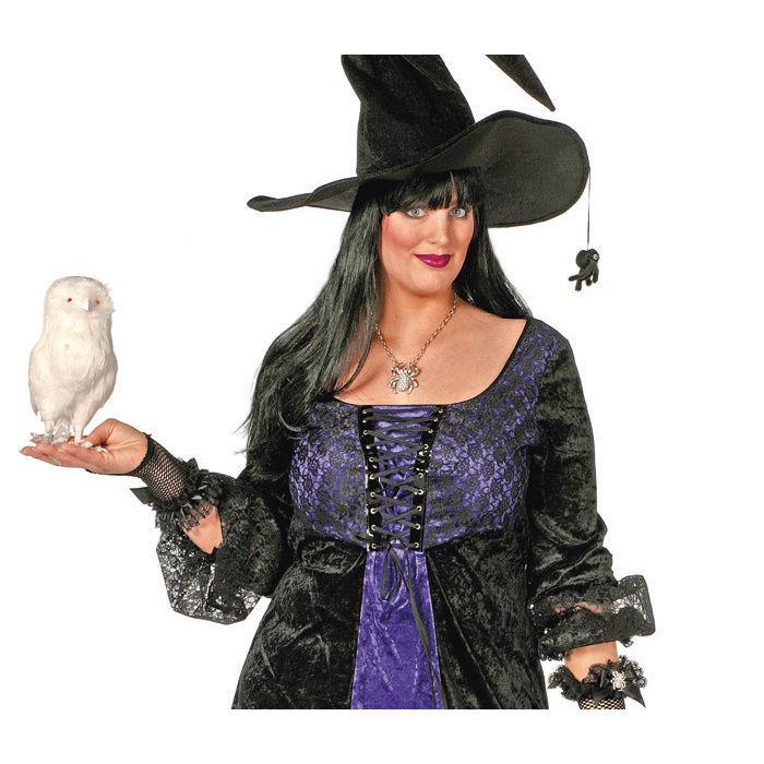 damen kost m hexe violetta lila schwarz gr 56 halloween damenkost me halloween kost me. Black Bedroom Furniture Sets. Home Design Ideas