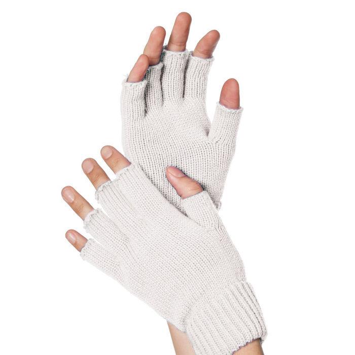 167943bd31a7b4 Handschuhe gestrickt, fingerlos, weiß - Handschuhe Kostüm ...
