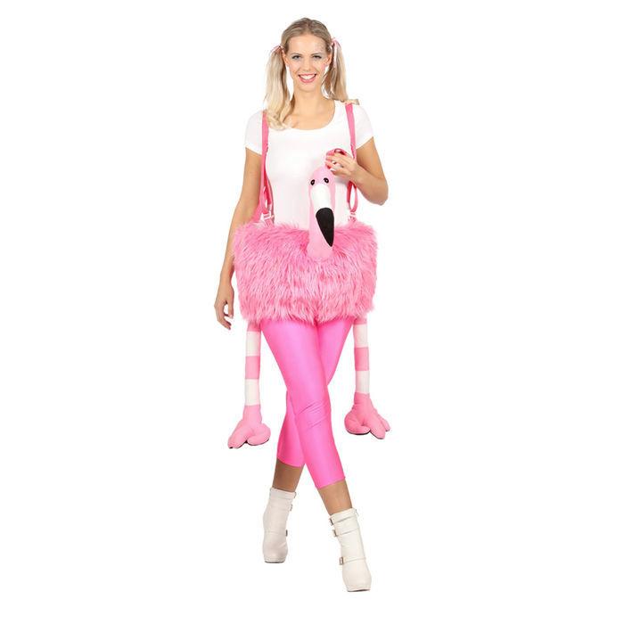 Damen Kostum Flamingo Einheitsgrosse Tierkostume Pluschkostume