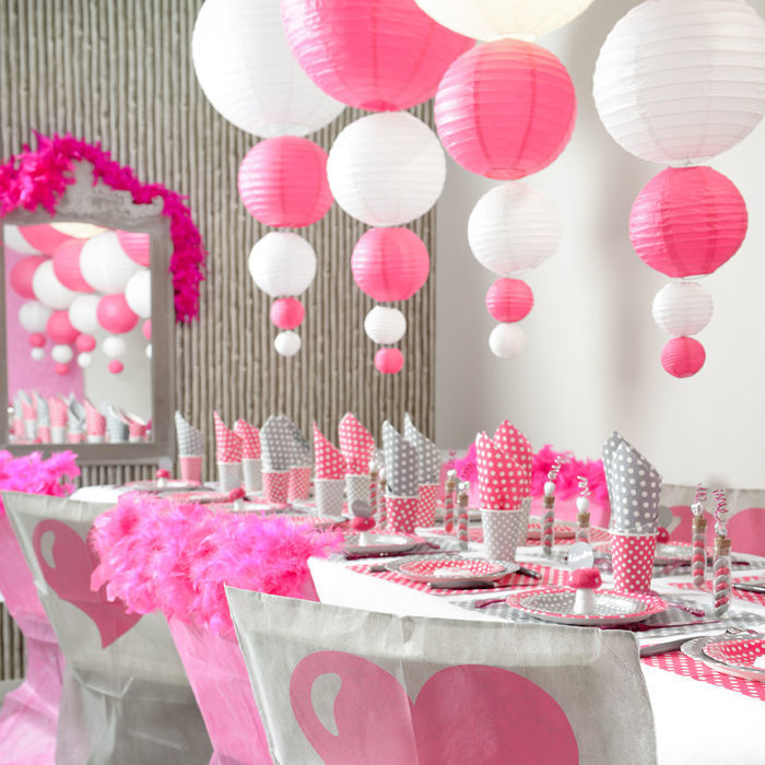 Lampion xl 50 cm fuchsia 1 st ck party dekoration for Pinke party deko