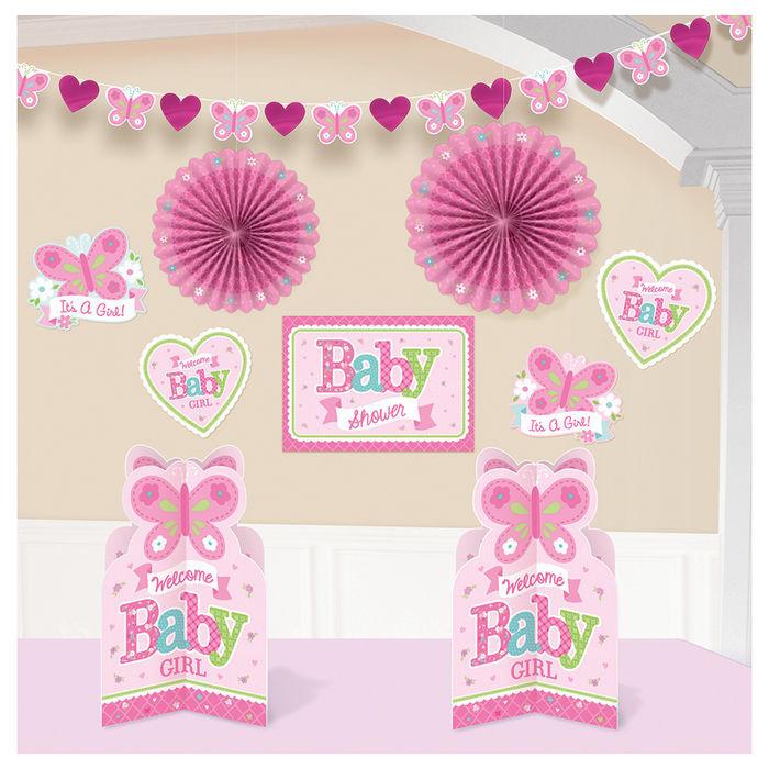 Sale Deko Set Welcome Little One Girl 10 Teilig Geburtstag Baby
