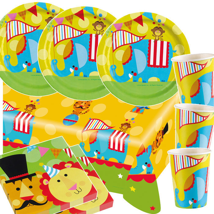 Party set basic 16 g ste zirkus fisher price kinder for Kinder party set