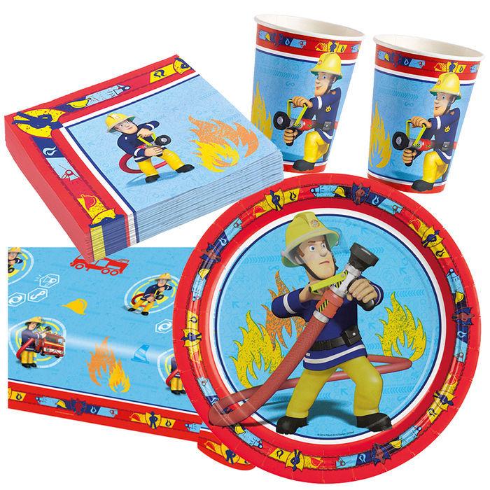Party set basic 16 g ste feuerwehrmann sam jungen party for Kinder party set