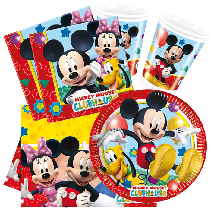 Party set basic f r 8 g ste playful mickey party sets for Kinder party set