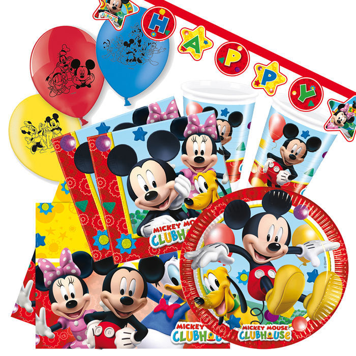Party set premium f r 8 g ste playful mickey party sets for Kinder party set