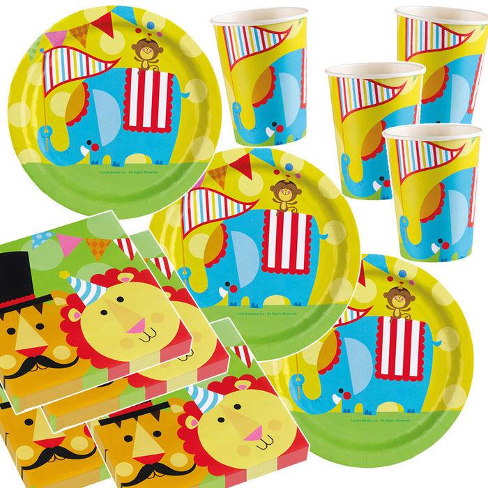 Party set unisex 16 g ste zirkus fisher price kinder for Kinder party set