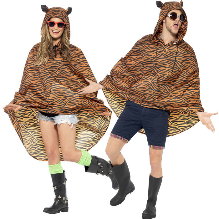 party poncho tiger einheitsgr e 1 st ck smiffys party ponchos stand out suits kost me. Black Bedroom Furniture Sets. Home Design Ideas