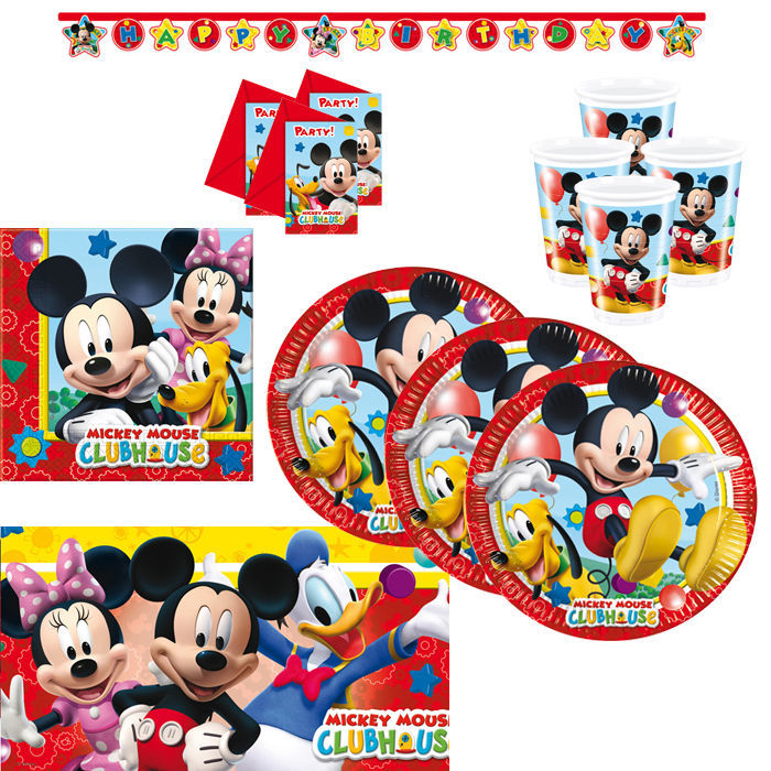 Party-Set Playful Mickey, 50 tlg.