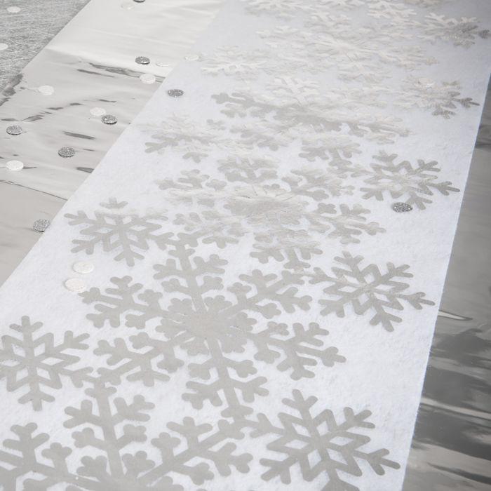 tischl ufer schneeflocke 30cm x 5m 1 stk kinder party frozen kinder party disney kinder. Black Bedroom Furniture Sets. Home Design Ideas