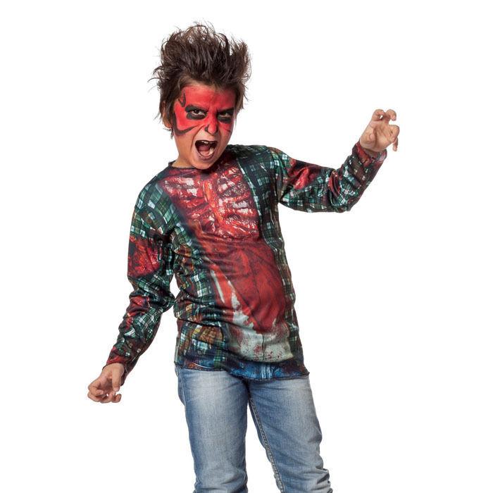 kinder kost m shirt zombie gr 140 152 halloween kinderkost me halloween kost me halloween. Black Bedroom Furniture Sets. Home Design Ideas