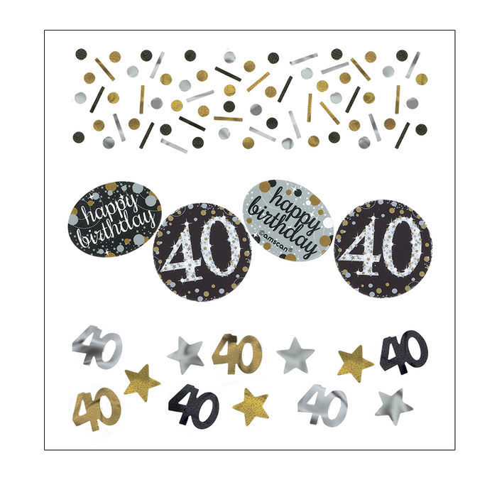 Konfetti Happy Birthday Sparkling 40, 34 g