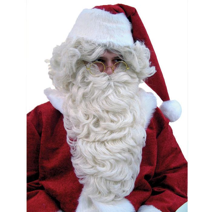 Stirnband flachsblond Kostüm Zubehör Weihnachtsmann Weihnachten Nikolaus Bart u