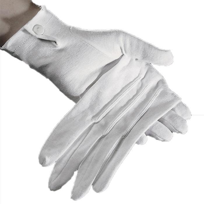 353e7636271d71 Handschuhe Damen, weiß mit Biesen, Baumwolle - Zubehör ...