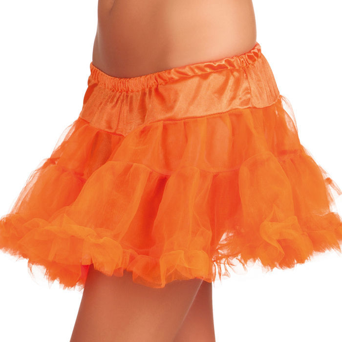 Petticoat kurz, neon orange