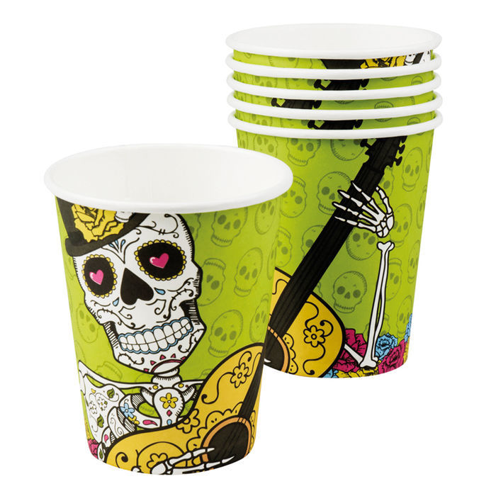 Becher Day of the Dead, 6 Stk., 250 ml
