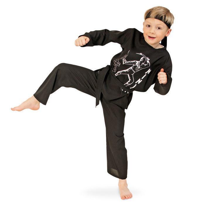 kinder kost m ninja g rtel stirnband gr 116 ninja soldat co kinderkost me jungen. Black Bedroom Furniture Sets. Home Design Ideas
