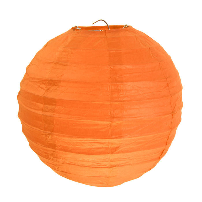 Lampion M, Ø 20 cm, orange, 2 Stück