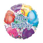SALE Folienballon Happy Birthday Balloons, 45 cm