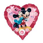 SALE Folienballon Jumbo Mickey & Minnie Heart