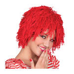 Per�cke Clown Fuzz aus Wolle, rot