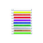 Eintrittskontrollband Tystar, 100er Pack, orange