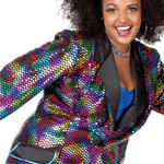 SALE Damen-Jacke Rainbow Disco, bunt, Gr. 50-52