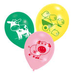 NEU Luftballon Farm Fun, 6 St�ck