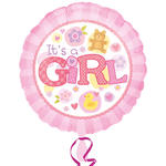 NEU Folienballon It´s a Girl Pink, 45cm