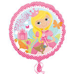 Folienballon Happy Birthday Prinzessin