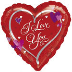 SALE Folienballon I Love You - Love Script, 45 cm