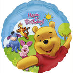 Folienballon Pooh & Friends B.day, 45 cm