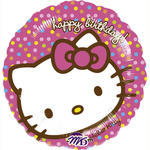 Folienballon Hello Kitty Happy Birthday, 45 cm