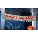 SALE Banner aus Stoff  'Enter if you Dare'